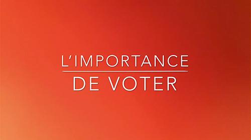 L'importance du vote