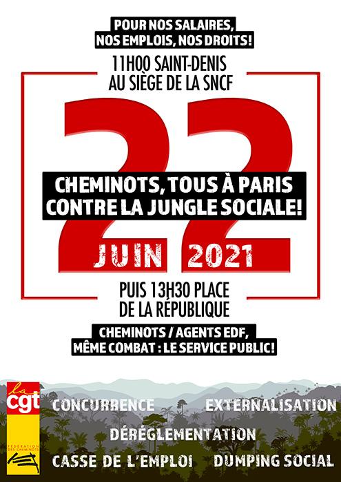 Rassemblements le 22 juin 2021