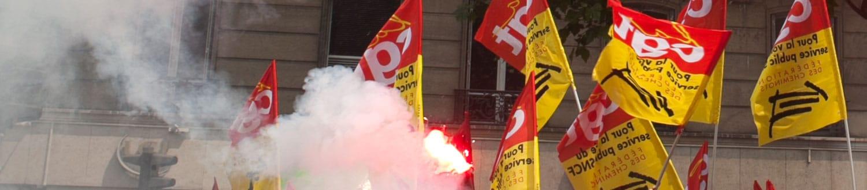Manifestation contre la réforme ferroviaire